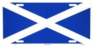 Decor Time Scotland Flag Metal License Plate ()