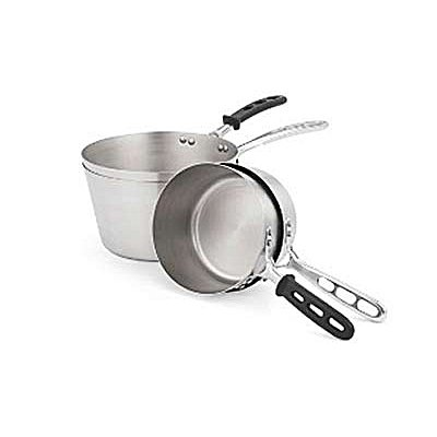 Tapered Nat. Finish Alum. 3.75 qt Sauce Pan w/ TriVent Handle
