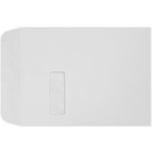 9 x 12 Open End Window Envelopes - White Linen (50 Qty) | Perfect for Catalogs, Annual Reports, Brochures, Magazines, Invitations| 1590-WLI-50 - 12 Window Envelope