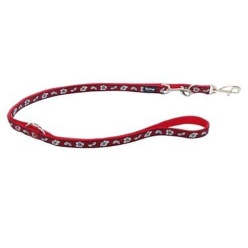 Red Dingo Hibiscus Red multi-purpose dog leash 6,5ft Large