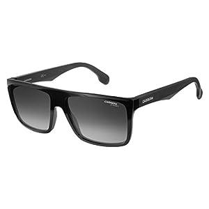Carrera Men's Ca5039s Rectangular Sunglasses, Black/Dark Gray Gradient, 58 mm