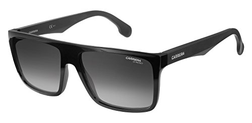 Carrera Men's Ca5039s Rectangular Sunglasses, Black/Dark Gray Gradient, 58 - Optical Safilo