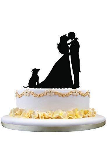 Kissing Couple Cake Topper - Cheyan Couple(bride and groom) kissing cake topper,dog cake topper,pet wedding cake topper