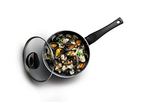 Kitchen Craft – Cacerola Antiadherente de cerámica ecológica, 16 cm, Aluminio, Gris, 20 cm (8 Inch)