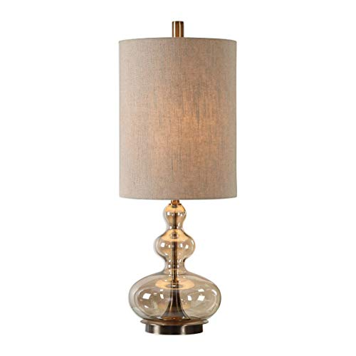 Uttermost 29538-1 Formoso Amber Glass Table Lamp