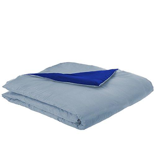 bkb Reversible Toddler Comforter, Light Blue and Royal Blue