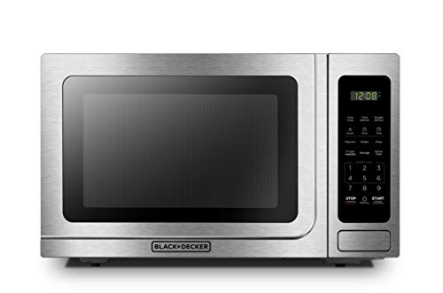 BLACK+DECKER EM036AB14 Digital Microwave Oven with Turntable Push-Button Door