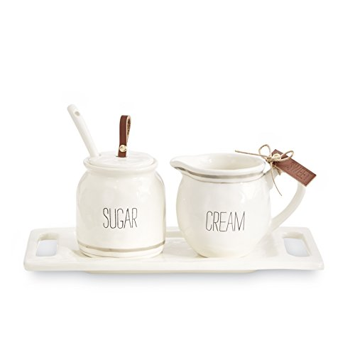 Mud Pie Bistro Cream and Sugar 5 Piece (Mud Pot)