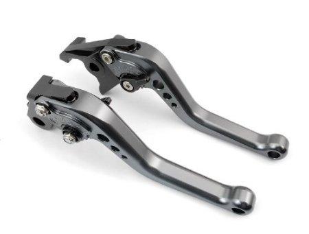 Short Brake Clutch Levers for SUZUKI GSXR600 97-03,GSXR750 96-03,GSXR1000 01-04,GSR750 GSX-S750 11-16,TL1000S 97-01,SFV650 Gladius 09-15,DL650 Vstrom 11-12,GSR600 06-11-Grey