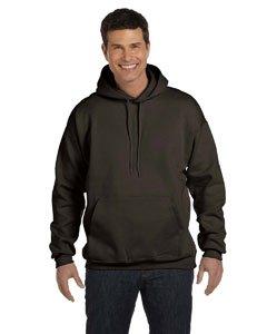 Hanes 9.7 oz. Ultimate Cotton 90/10 Pullover Hood 3XL DARK CHOCOLATE by Hanes
