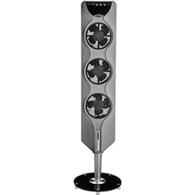 Ozeri 3x Tower Fan (44 ) with Passive Noise Reduction Technology