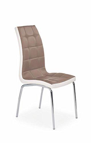 CARELLIA Set di 4 sedie design - Cappuccino: Amazon.it: Casa ...