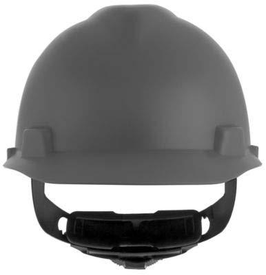 (MSA 10203084 V-Gard Hard Hat - Fas-Trac Suspension - Matte Grey)