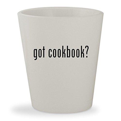 got cookbook? - White Ceramic 1.5oz Shot Glass