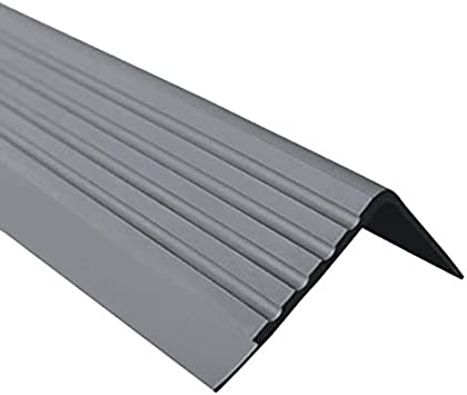 Antideslizante Perfil para cantos de escaleras Escaleras ángulo perfil PVC Goma RD, 40 x 40 mm, 1.5 metros: Amazon.es: Bricolaje y herramientas