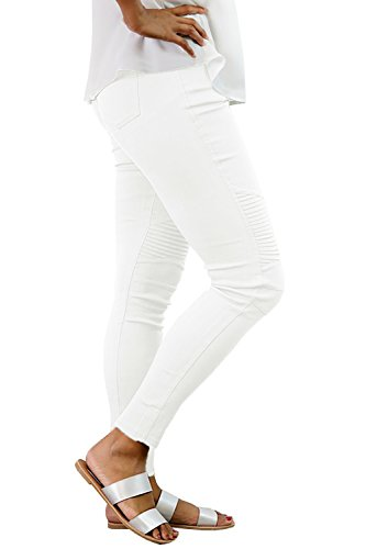Meilidress Womens High Waist Moto Jeggings Skinny Stretch Ankle Jeans Leggings with Pockets by Meilidress (Image #2)