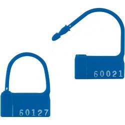 ''PP2'' Blue Plastic Padlock Seals (SE1026) Category: Stickers and Seals