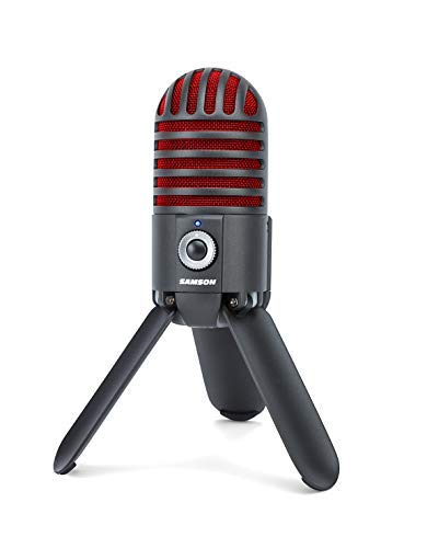 (Samson Meteor Mic USB Studio Microphone, Titanium Black/Red - Limited Edition)