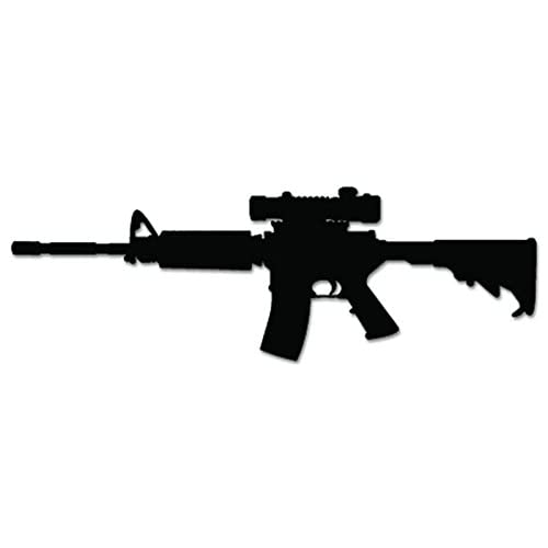 AR-15 Assault Rifle Scope Vinyl Decal Sticker For Vehicle Car Truck Window Bumper Wall Decor - [12 inch/30 cm Wide] - Matte WHITE Color supplier
