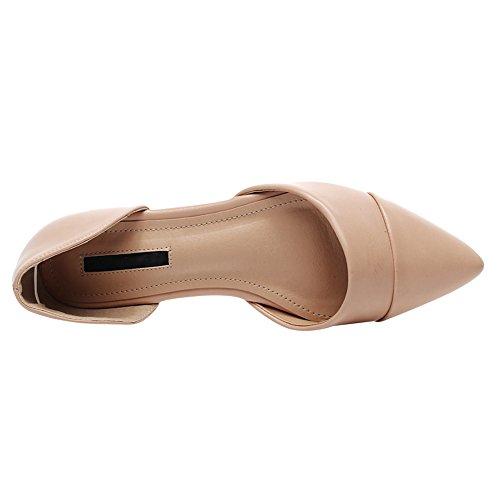 Pezzi Donna Elegante Jamron Ecopelle Ballerine Punta Due Comfort D'Orsay amp; Scarpe Albicocca 8YdZqUxd