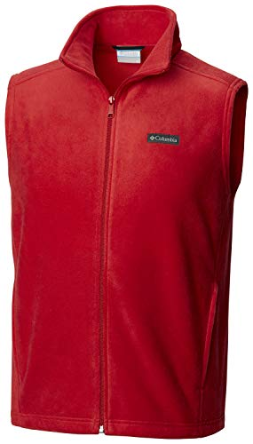 (Columbia Men's Steens Mountain Fleece Vest , Mountain Red, Large)