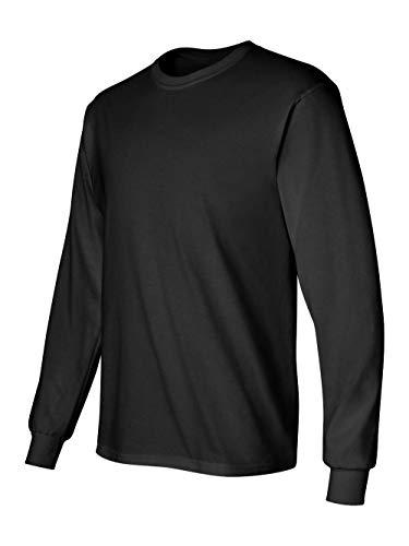 Gildan Ultra Cotton Adult Long Sleeve T-Shirt -Black, Small ()