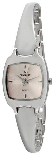 Peugeot Women's Half Bangle Bracelet Japanese-Quartz Watch with Stainless-Steel Strap, Silver, 11 (Model: 1051PK)