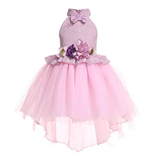 Sleeping Beauty Princess Aurora Party Girls Costume Dress(Pink,100cm) -