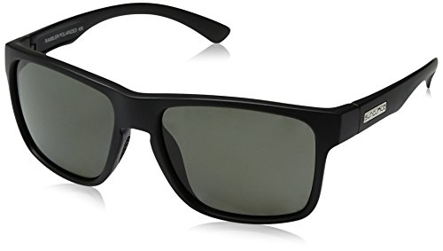 Suncloud Rambler Sunglasses, Matte Black Frame/Gray Polycarbonate Lens, One - Ops Black Sunglasses