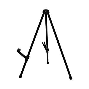 "US Art Supply ""Exhibitor 14"" Tall Black Steel Tabletop Instant Display Easel-Fits Easily into a Briefcase or Carry Bag (6-Easels)"