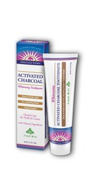Heritage Store Activated Charcoal Toothpaste Mint 5.1 Ounces ( 2 pack )