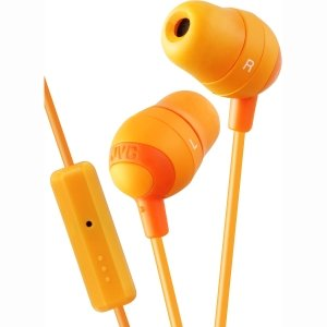 JVC HAFR37D Marshmallow Earbuds with Mic, Orange