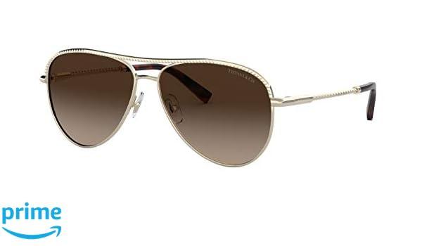 07279d4232bb Amazon.com  Tiffany   Co. TF 3062 Gradient Aviator Sunglasses for ...