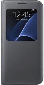 Samsung 純正品 Galaxy S7 edge S-View Flip Cover (Sビューカバー) - Black/ブラック 並行輸入品