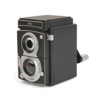 Kikkerland Camera Pencil Sharpener, Black (SC12)