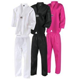 Century Martial Arts Lightweight Taekwondo Student Uniform (Pink, 000 - Child 2-4)