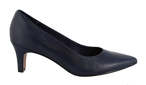 Clarks Women's Crewso Wick Dress Pump, Navy Leather, 7.5 W US (Pump Shoes Navy)