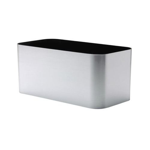 Mesa Planter - American Essence EP-AEMES-SIL-30 30 x 7 x 7 in. Mesa Rectangle Planter44; Brushed Silver