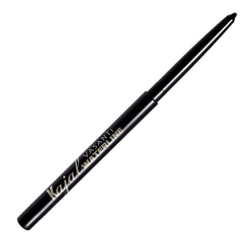 Kajal Waterline Eyeliner by VASANTI - Intense Black - Safe for Use on Waterline and Tightline (Upper Waterline) - Ophthalmologist Tested and Approved - Paraben Free, Vegan Friendly, Cruelty Free (The Best Kajal For Eyes)