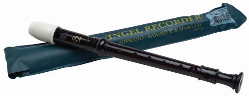 Angel 101 Soprano Recorder, Key of C, Black
