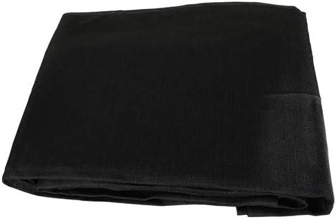 Black Mesh 6×10 Heavy Duty UV Screen Shade Canopy Patio Yard Tarp Sun Cover