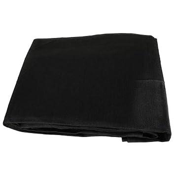 Black Mesh 8×10 Heavy Duty UV Screen Shade Canopy Patio Yard Tarp Sun Cover