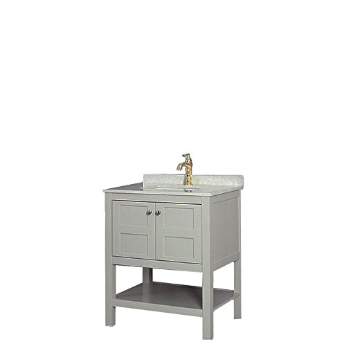 LifeDesign Home Shaker Dove Bathroom Vanity with Quartz Top and Single Sink,30-Inch, SD-FVSET30 (30