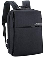 YSDHE Backpack 15.6-inch Laptop Bag Business Travel Packet USB Charging Port Package (Color : Black)