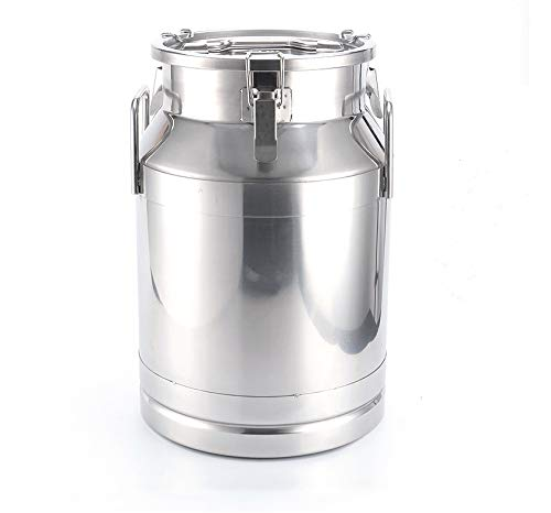(50 Liter 13.25 Gallon Stainless Steel Milk Can Wine Pail Bucket Tote Jug)