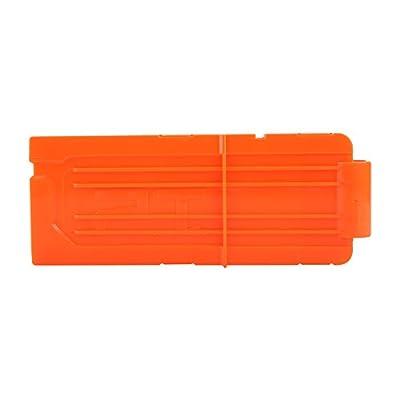 Yosoo 12 Round Darts Replacement Plastic Magazines Clip Orange for Gun N-Strike Elite (2 pcs Reload Clip): Sports & Outdoors