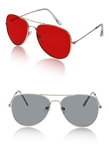 Gold Aviator For Women Mens Men's Aviators Sunglasses 2 Bulk Reds Red Grey