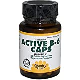 COUNTRY LIFE VITAMINS COENZYME ACTIVE B-6,50 MG, 30 VCAP