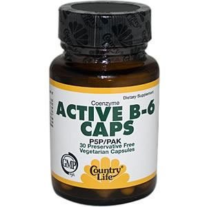 COUNTRY LIFE VITAMINS COENZYME ACTIVE B-6,50 MG, 30 VCAP by Country Life