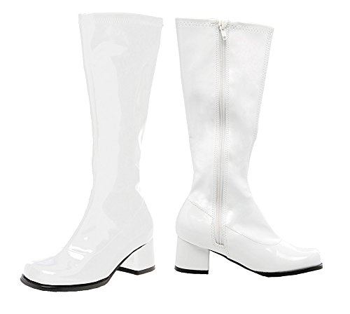 SALES4YA Kids-Costume-Accessory Go Go Boot Child Size 3 White Halloween Costume